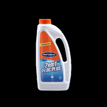 Floc Plus 2 em 1 Clarifica e Decanta Água Piscina 1L Hidroazul