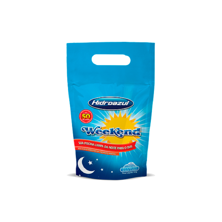 Weekend Tratamento Limpa Piscina Dia para Noite Urgente 4kg Hidroazul