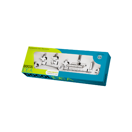 Kit de Acessórios para Banheiro 5 Peças Idea Inox Docol 00586306