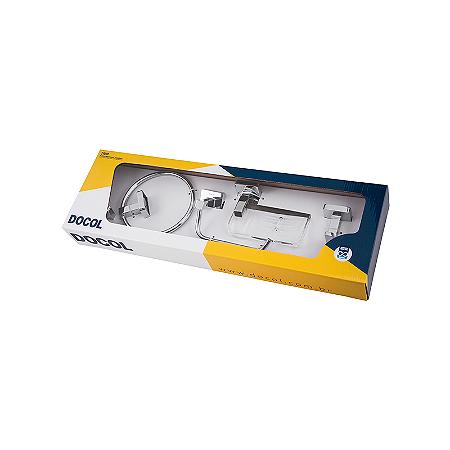 Kit de Acessórios para Banheiro 5 Peças Trip Inox Docol 00765606