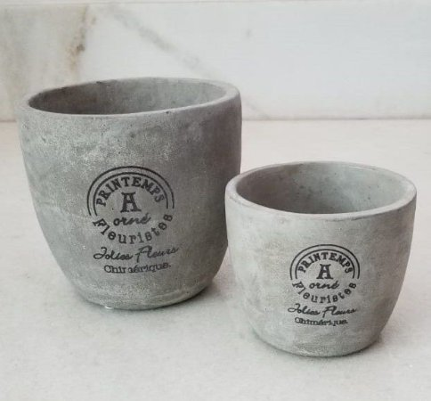 Conjunto vaso cimento (02 peças)