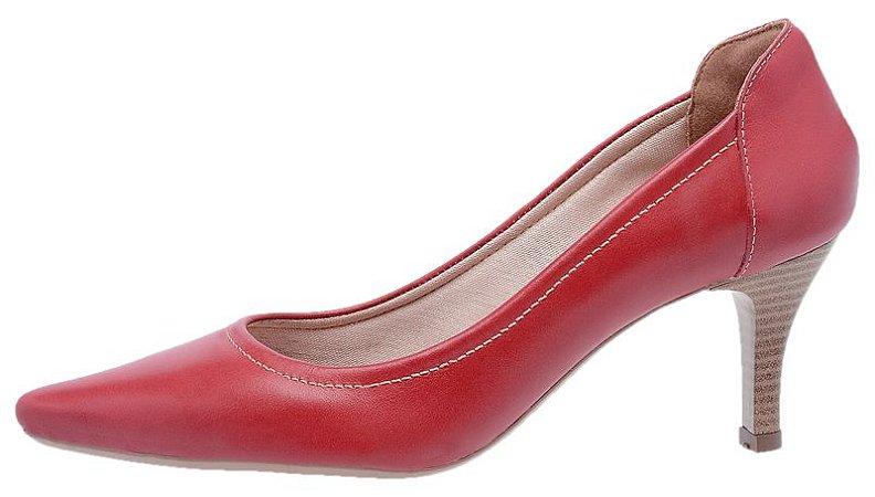 Scarpin Feminino em Couro 3801 Vermelho
