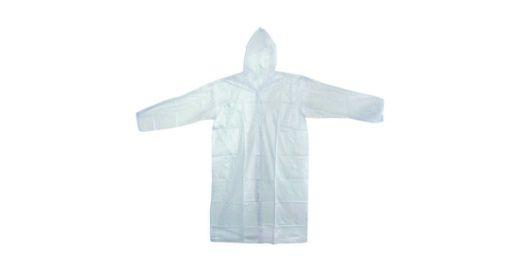 Capa de chuva reutilizável Transparente Nikokit tamanho G