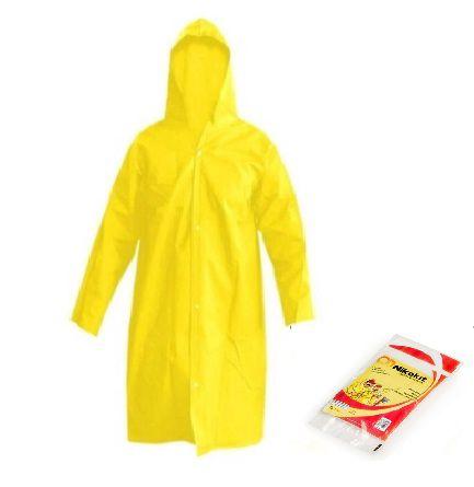 Capa de chuva cor  Amarelo reutilizável tamanho G