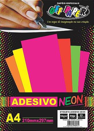 Etiqueta Adesiva Pink, 100g/m2,  pacote 20fls.