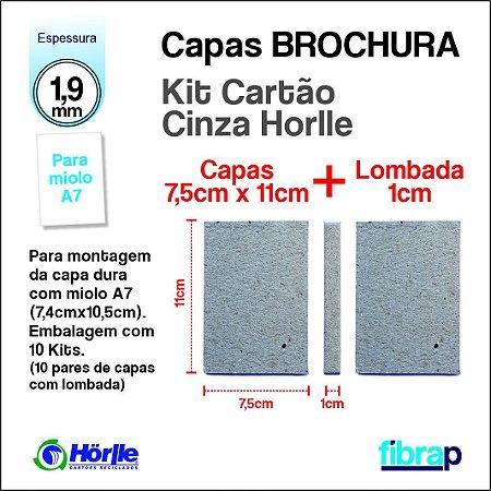 Kit Montagem Brochura A7 lombada 1cm, MP Mimos Personalizados