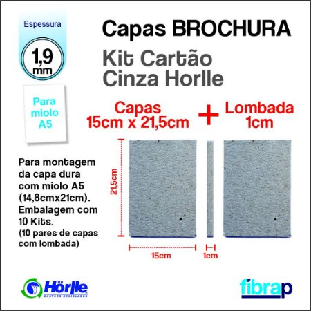 Kit Montagem Brochura A5 lombada 1cm, MP Mimos Personalizados