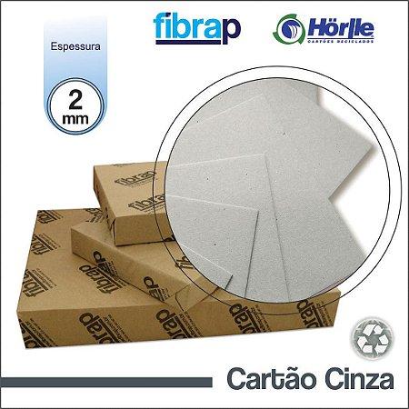 Cartão Cinza - 2mm,  pacote 50fls.