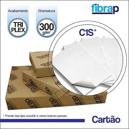 Cartão Triplex C1S 300g/m2 , pacote 200fls.