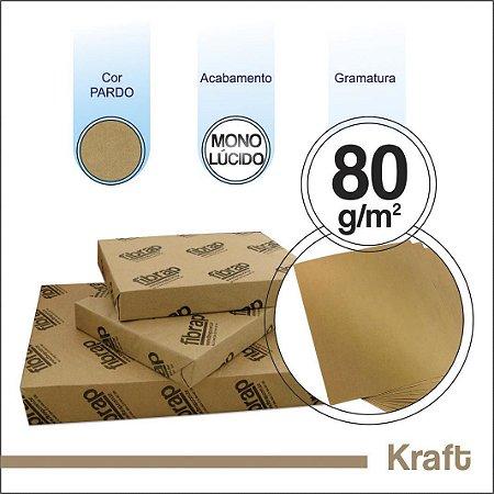 Kraft Monolucido 80g/m2, -  pacote 500fls.