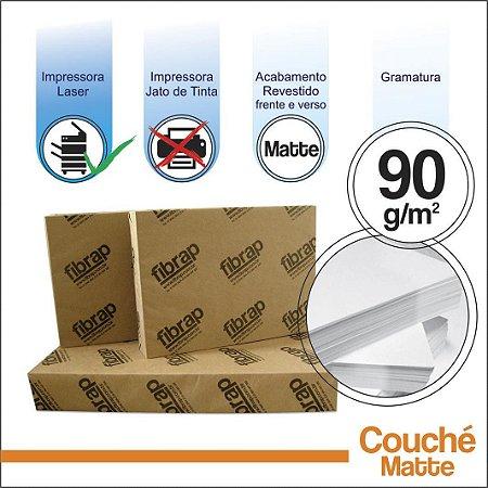Couché Fosco 90g/m2,  pacote 250fls.