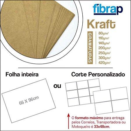 Kraft, 66x96cm ou Corte Personalizado.
