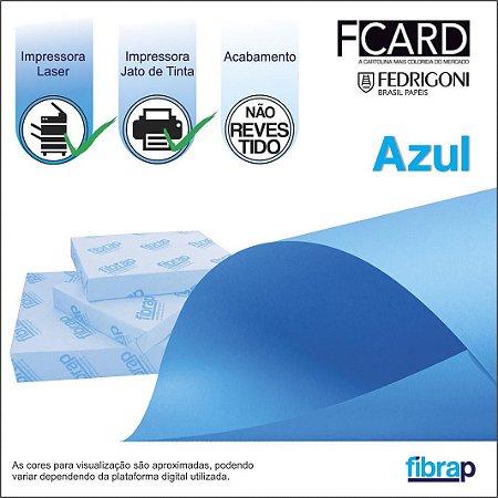 F Card Azul,  pacote 100fls.