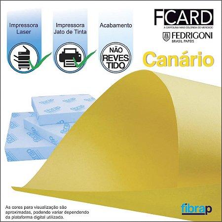 F Card Canário,  pacote 100fls.