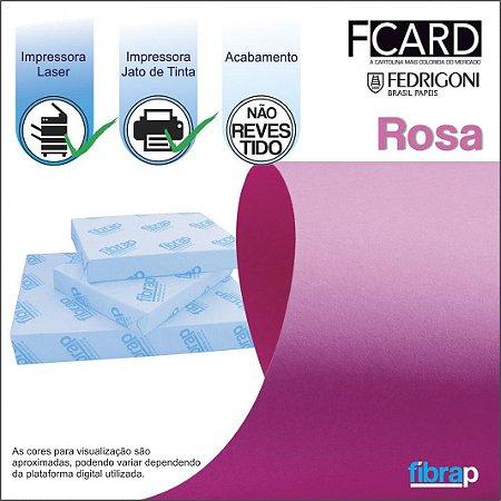 F Card Rosa,  pacote 100fls.