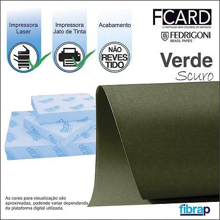 F Card Scuro Verde,  pacote 100fls.