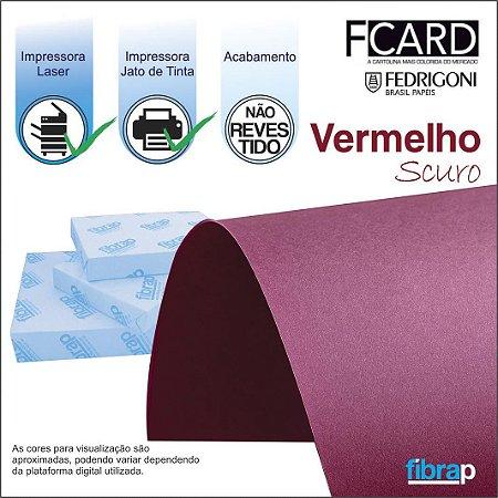 F Card Scuro Vermelho,  pacote 100fls.