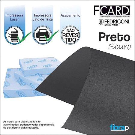 F Card Scuro Preto,  pacote 100fls.