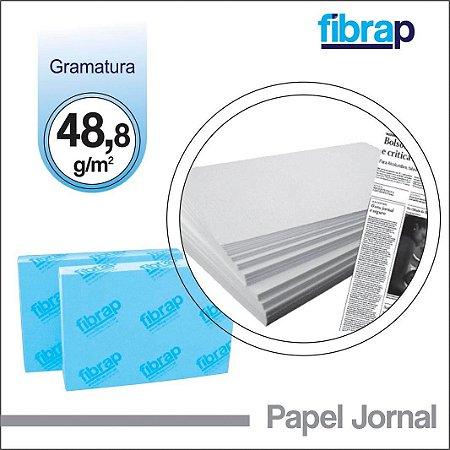 Papel Jornal 48,8g/m2, -  pacote 500fls.