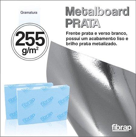 Metalboard Prata 255 g/m2,  pacote 20fls.