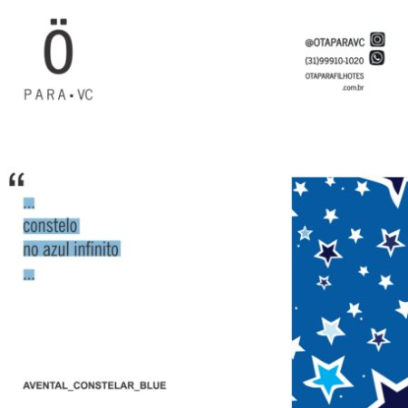 Avental CONSTELAR BLUE Cruzeiro . ÖTA • PARA • VC