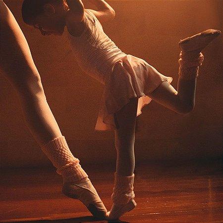 Saia de Ballet Infantil . estampa Camomilas Rose . OTA .