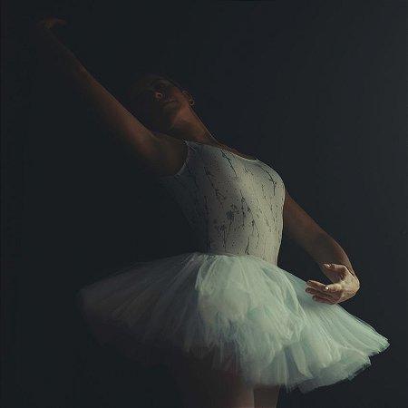 Collant de Ballet Adulto. estampa Camomilas White . OTA .