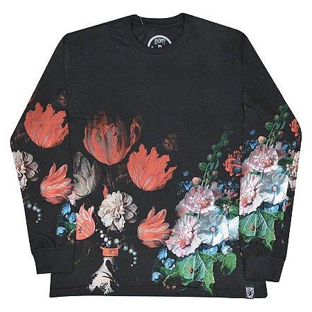 c12cc5fa62 Camiseta Manga Longa Dark Flowers Botanical - Yoxee Store