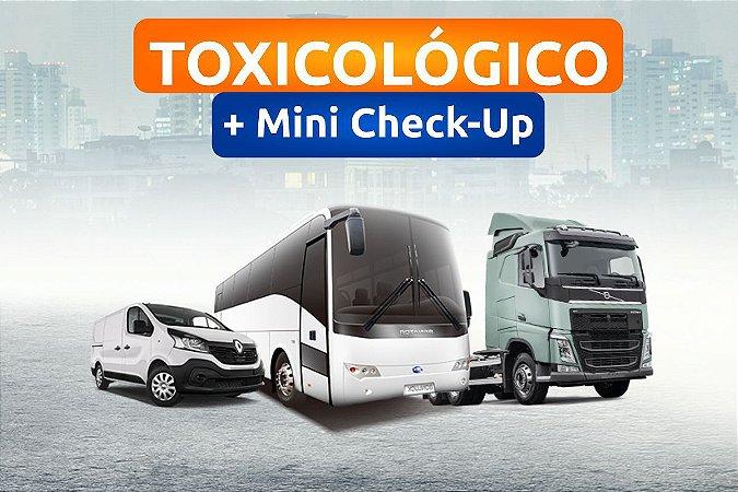 EXAME TOXICOLÓGICO + Mini Check-up