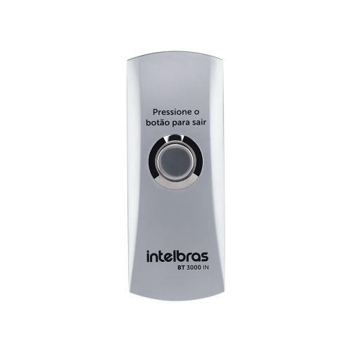 Acionador de Saída Inox Sobrepor c/ Caixa Intelbras (BT 3000 IN)