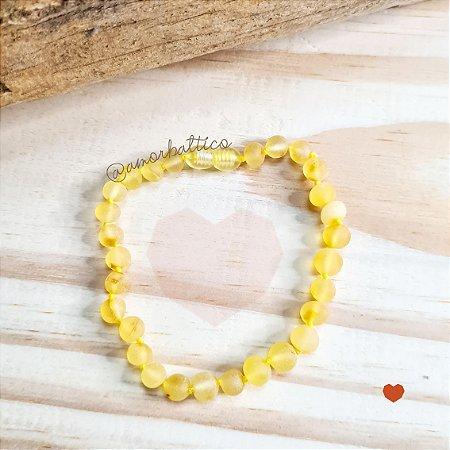 Tornozeleira Adulto Limão Fosco Contas Grandes - 23 cm