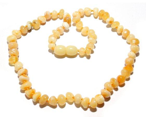 Colar Adulto Manteiga Polido - 45 cm