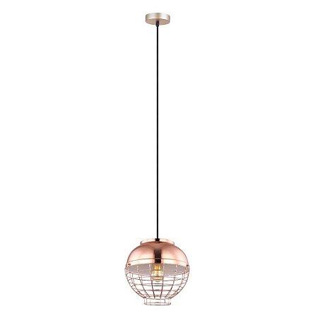 Luminária Pendente Aramado Esfera Bronze