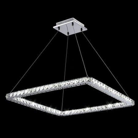 Pendente Cristal Quadrado LED Integrado 36W 3000K