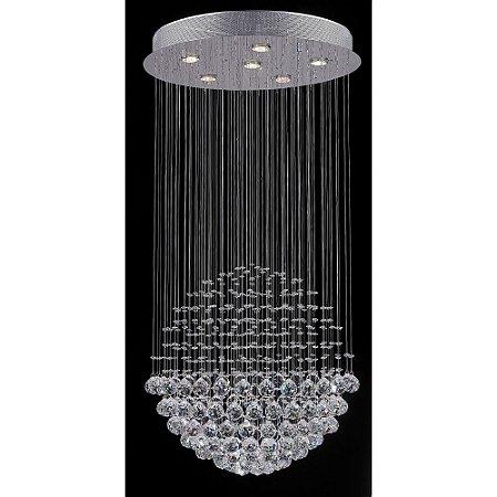 Plafon Cristal Esfera 60 cm x 117 cm