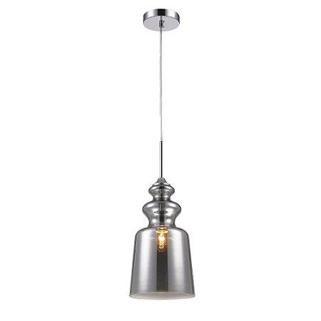 Luminária Pendente em Vidro Fumê Para Bancada Cozinha Bar