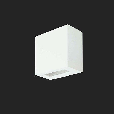 Arandela Alumínio Quadrada 10 cm x 10 cm Baixa - 2 Fachos