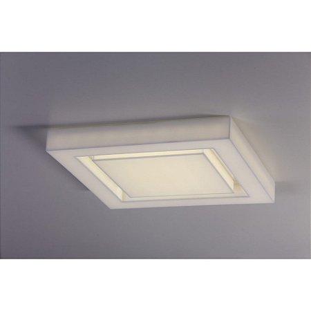 Plafon LED Sobrepor Endy 54X54 Acrílico 110V 3000K Luz Amarela