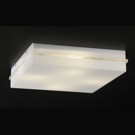 Plafon Sobrepor Acrílico Branco Mantova Quadrado 48x48 Bella Itália
