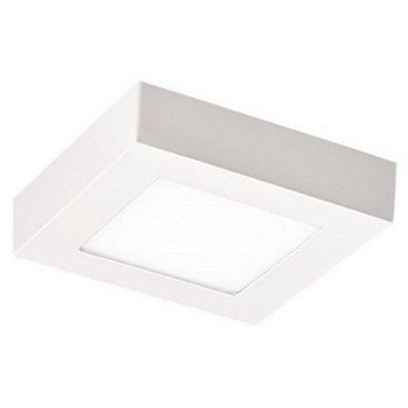 Plafon LED Sobrepor 6W Bivolt 3000K Branco Quente Alumínio