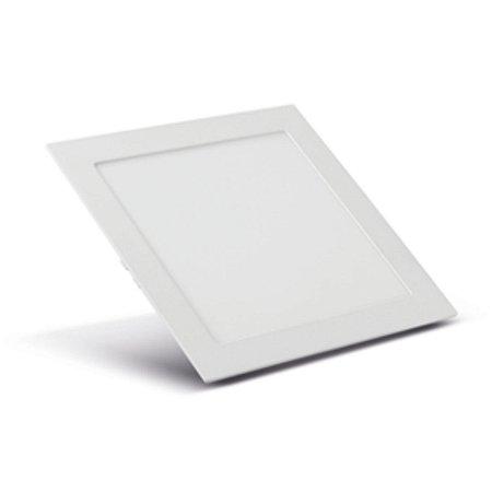 Luminária Painel Plafon LED Embutir 12W Sala Quarto Lavabo Luz Branco Frio 5700K