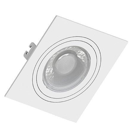 Spot Embutir MR16 GU10 Dicroica Quadrado Face Plana Orbital Branco