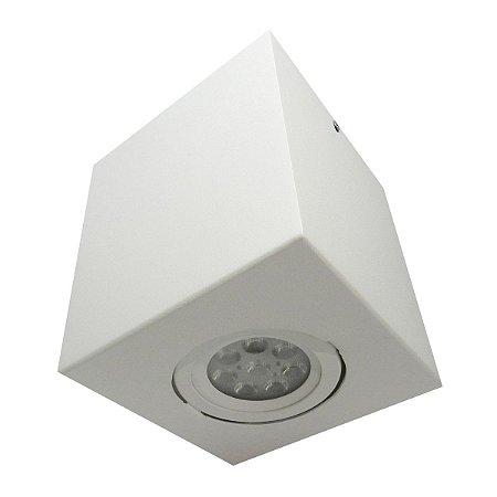 Spot Plafon Sobrepor Par20 E27 Alumínio Branco Florence