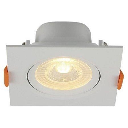 Spot LED Embutir Direcionável Quadrado 3W Bivolt 3000K Branco Quente Blumenau