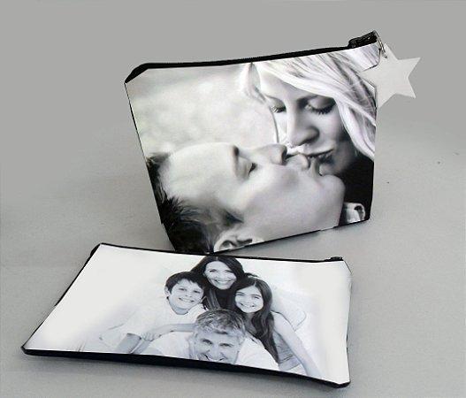 Necessaire personalizada com foto - conjunto de 2 peças