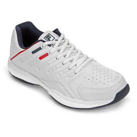 Tênis Fila Lugano 6.0  - Branco e Vermelho