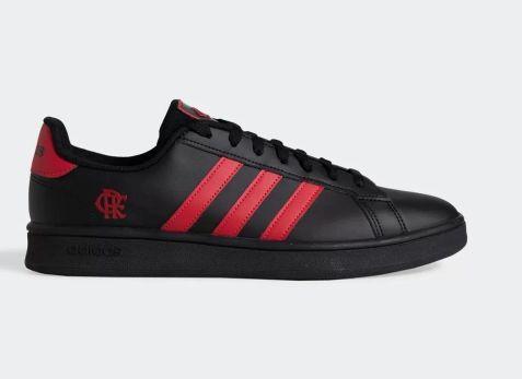 Tênis Adidas Grand Court Flamengo Masculino - Preto e Vermelho