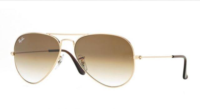 Óculos Aviador Estilo Ray Ban - Dourado com Lente Marrom - Brazil Outlet c80167be02