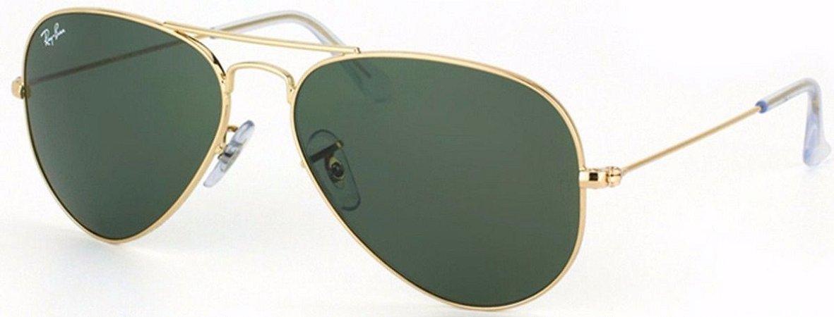dd92ba0bca Óculos Aviador Estilo Ray Ban - Dourado com Lente Verde - Brazil Outlet