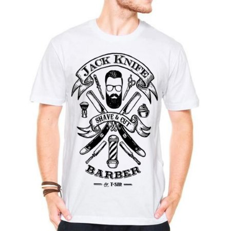 Camiseta Manga Curta Jack barber Shop